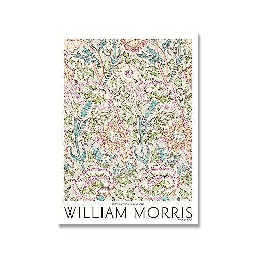Cartel de la exposición de William Morris, impresión de pintura del movimiento artístico de Londres, lienzo sin marco en la sala de estar A4 50x75cm