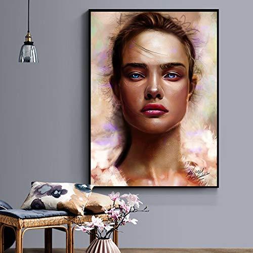 adgkitb canvas Weibliche Krieger leinwand Druck Figur niedlichen Baby für Wohnzimmer Kind mädchen Zimmer hd wohnkultur Wand Art 50x70cm kein Rahmen