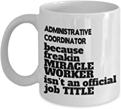 Administrative Coordinator Gifts - Awesome Coffee Mug For Administrative Coordinator Professionals, Funny Admin Organizer Cup, Ceramic
