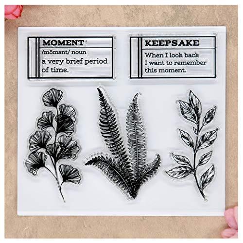 Kwan Crafts Moment Leaves Stempel für Grußkarten, Dekoration und DIY Scrapbooking