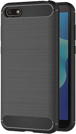 64aee6d9508 AICEK Funda Huawei Y5 2018, Negro Silicona Fundas para Huawei Y5 2018  Carcasa Huawei Y5 2018 Fibra de Carbono Funda Case (5,45 Pulgadas)
