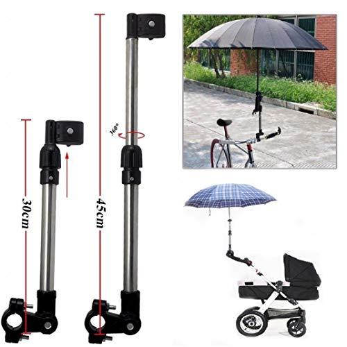 YSHTAN Paraplu Houder Fietsen Apparatuur Paraplu Houder Baby Kinderwagen Bike Pram Fiets Verstelbare Paraplu Ondersteuning Houder Pole Stand