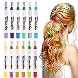 PONLCY Haar Kreide Stifte für Mädchen, temporäre Haarfarbe Kreide, waschbar Haarfarbe sicher für...