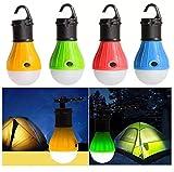 4 Pack 3 LEDs 100 lúmenes Camping Lantern, lámpara de la tienda, Camping Linterna Lámpara de emergencia Batería a prueba de agua Bombilla portátil para caminar Pesca Camping