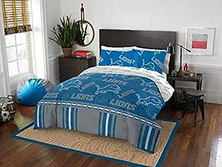 Detroit Lions NFL Queen Comforter & Logo'd Sheets, 5 Piece NFL Bedding, New! + Homemade Wax Melts