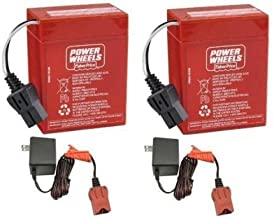 Power Wheels 6 Volt Red Batteries and 2 6 Volt Chargers by Power Wheels