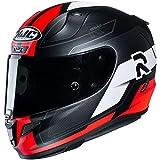HJC Helmets Casco de moto RPHA 11 FESK MC1SF, Negro/Blanco/Rojo, XS (13947106)