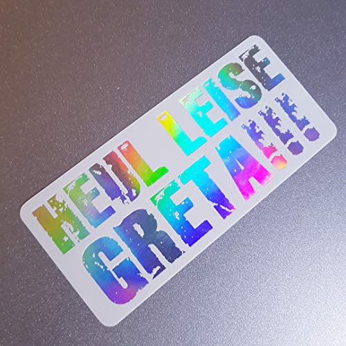 folien-zentrum Heul Leise Greta Weiß Hologramm Oilslick Rainbow Flip Flop Aufkleber Metallic Effekt Shocker Auto JDM Tuning OEM Dub Decal Sticker Illest Dapper Oldschool