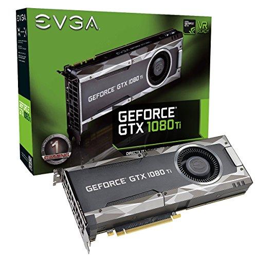 EVGA GeForce GTX 1080 Ti Gaming, 11 GB GDDR5X, DX12 Soporte OSD (PXOC) Tarjeta gráfica 11G-P4-5390-KR