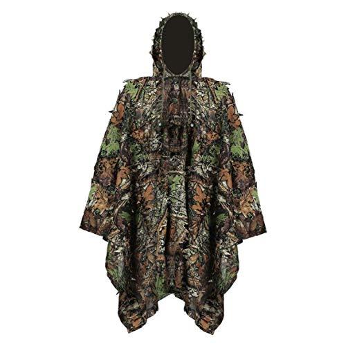 Ghillie Suit Stealth Sniper Set 3D-Camouflage Cape Umhang Dschungel für Outdoor Weihnachtsdekoration für das Schießen
