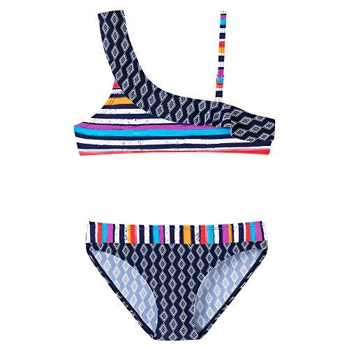 Schiesser Mädchen Aqua Bustier-Bikini Badebekleidungsset, Blau (Admiral 801), (Herstellergröße: 164)