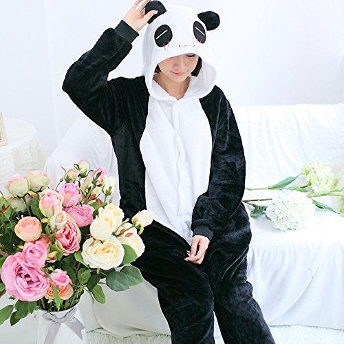 Katara 1744 – Panda Kostüm-Anzug Onesie/Jumpsuit Einteiler Body für Erwachsene Damen Herren als Pyjama oder Schlafanzug Unisex – viele verschiedene Tiere - 3