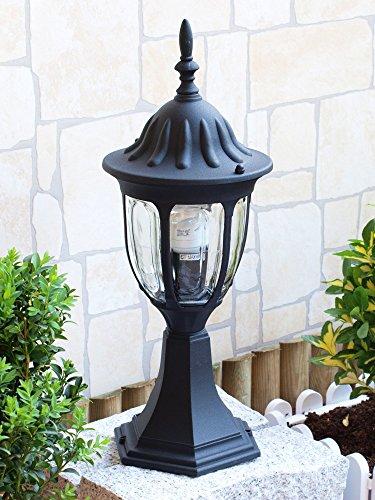 *Edle Außen LED Energiespar-Sockelleuchte 6 Watt in schwarz IP43*