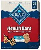 Blue Buffalo Health Bars Mini Natural Crunchy Dog Treats Biscuits Bacon, Egg & Cheese 32-oz box