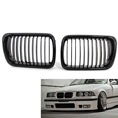 SBCX Front Schwarz glänzend Farbe M Nierengitter passend für BMW E90 09 11 LCI Facelift 3er