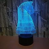Ilusión óptica 3D Ajedrez Luz de Noche 7 Colores que Cambian USB Poder Touch Switch Decor Lámpara LED Mesa Lámpara Niños Juguetes Cumpleaños Navidad Regalo