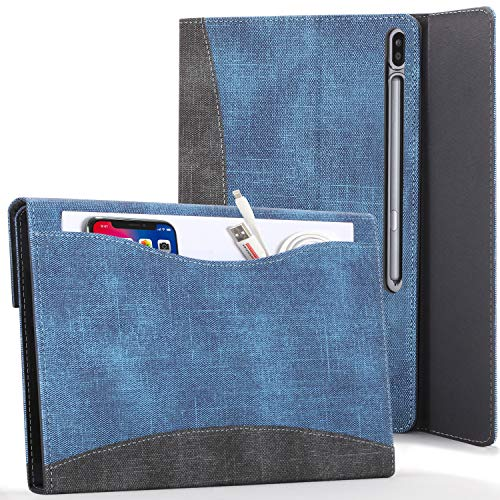 FC Funda para Samsung Galaxy Tab S7 Plus - Galaxy Tab S7 Plus Funda para Documentos con S Pen Soporte - Azul Real - Auto Sueño Estela Función, Galaxy Tab S7 Plus 12.4 Pulgadas 2020 Funda, Case, Cover