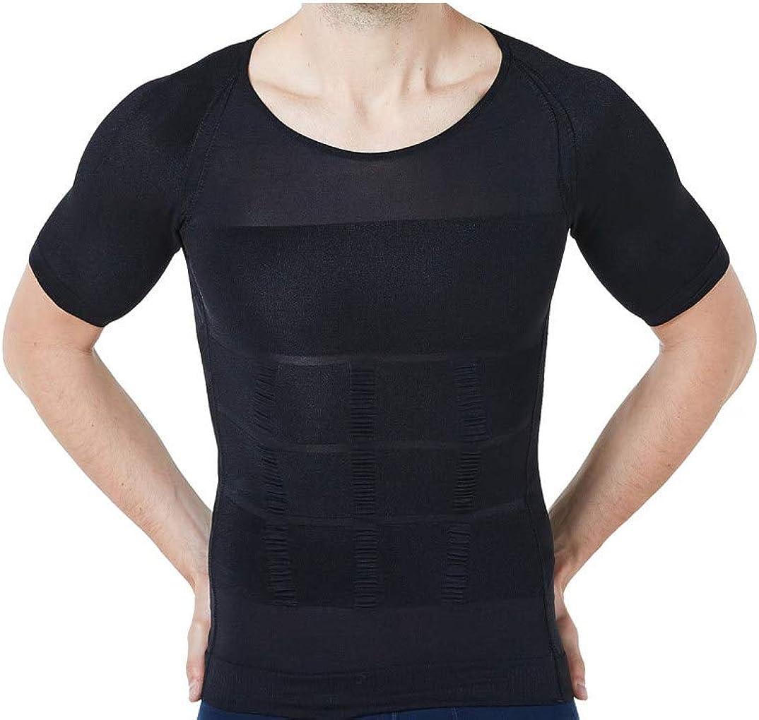 Limited Max 90% OFF time sale LUCACO Men's Compression Vest Slimmer Abdomen Shirt Breathable T