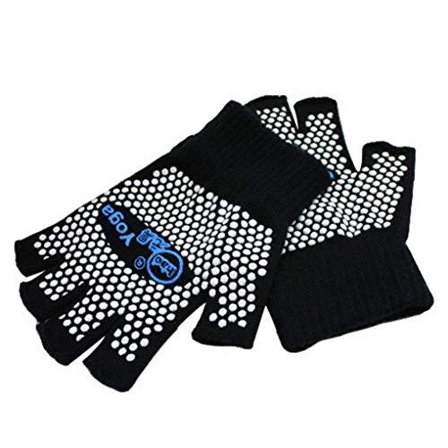 Non Slip Yoga Pilates Fingerless Exercise Grip Gloves with White...