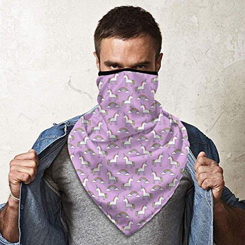 July Pink Flower Unicorn Windbreak Bandana sjaal stofmasker wasbaar