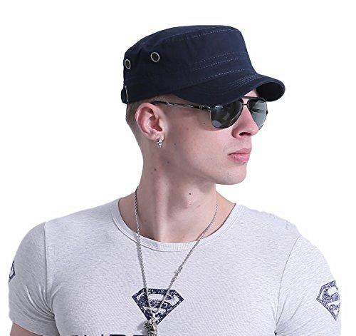 CACUSS Uomo Cappello Militare Cadet cap Uomini Cotone Cappello da Baseball Regolabile per Ambientazione Esterna, Sport, Viaggi