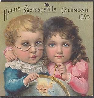 Hood's Sarsaparilla Calendar card 1893 Young Discoverers kids with globe