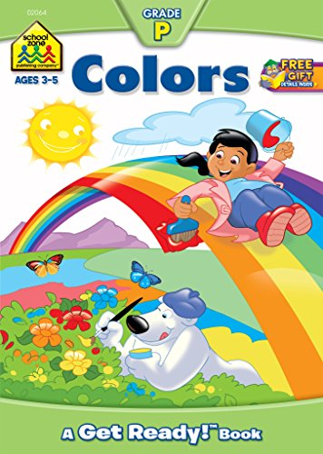 School Zone - Colors Workbook - Ages 3 to 5, Preschool, Color Words, Tracing, Coloring, and More (School Zone Get Ready!™ Book Series) (A Get Ready Book)