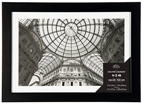Pinnacle Frames and Accents 13 x 19 Flat Frame to Fit 11 x 17 Mat, Black by Pinnacle Frames and Accents