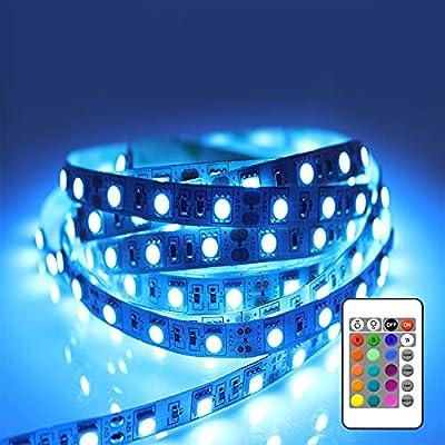 ★Multicolor y Ambiente Fantástico★ La tira LED de 3 metros posee 16 colores elegidas para ustedes. Puede ajustar los 3 niveles de brillo RGB. Además, hay 4 modos (flash/estroboscópico/fundido/suave) para elegir. Todo es para traerles un mejor ambient...