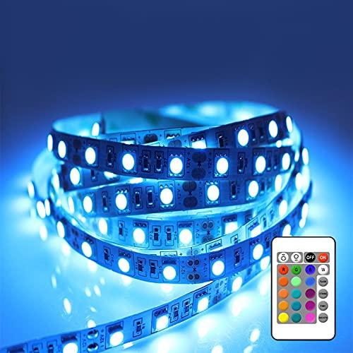 Tiras LED 3 Metros, REDSTORM Tiras LED USB RGB 5050, Iluminación Multicolor, 16 Colores Estáticos y 4 Modos de Brillos, Control Remoto IR Alimentado por USB