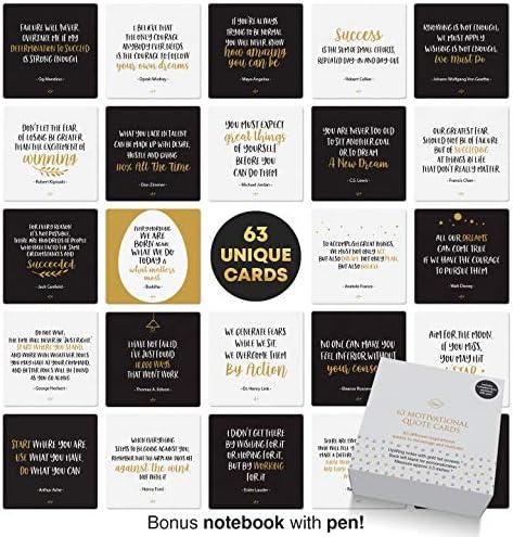 Dessie Motivational Cards 63 Unique Encouragement Cards Deck with Inspirational Quotes Bonus product image