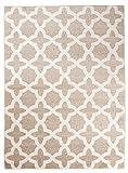 Carpeto Rugs Tapis Salon Beige 160 x 220 cm Moderne Geometrique/Furuvik Collection
