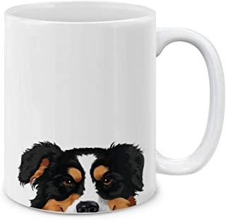 Best MUGBREW Black Tricolor Aussie Australian Shepherd Ceramic Coffee Mug Tea Cup, 11 OZ Review