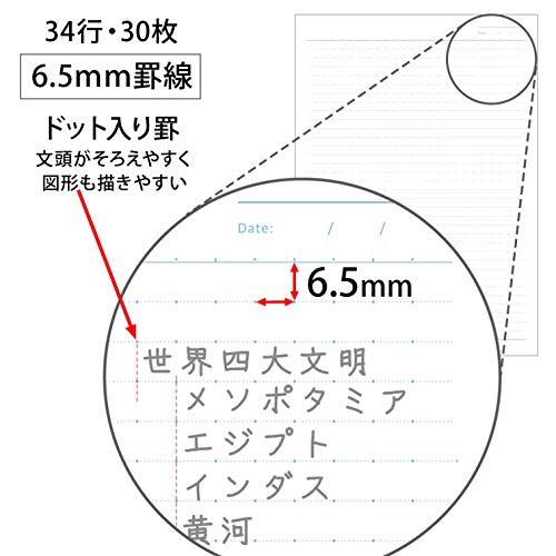 『キョクトウ ノート パワーパフガールズ CHEER B5 5冊束 6.5mm ドット罫 U14805』の4枚目の画像