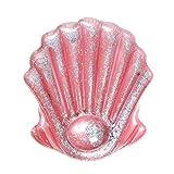 FYRMMD Guscio Rosa con Glitter 140 cm Gonfiabile Sdraio Gigante per Piscina Zattere Materasso ad Aria Lettino da Spiaggia Acqua F (Anello da Nuoto