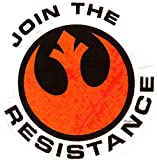 2 Inch Join The Resistance Logo Symbol Star Wars Episode VII 7 The Force Awakens Removable Wall Decal Sticker Art Home Decor Kids Room-2 1/4 Inches Wide by 2 1/2 Inch Tall