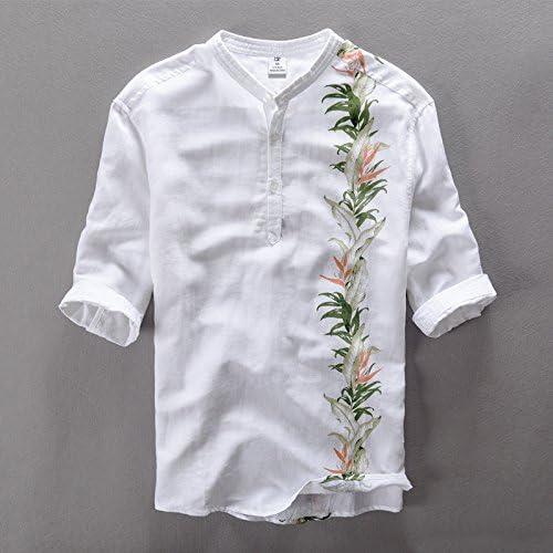 MAYUAN520 Chemises Nouveaux Hommes d'été, Robe Couleur Solide Shirts hauts hauts Chemises Court décontracté Bleu, l'impression de Marque Homme Slim fit Shirts,noir,XXL