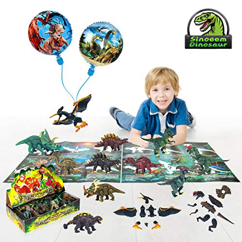 Smart Nice 12 Pcs Juguetes Dinosaurios Removable and
