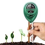Zhezhe - Testeur de sol 3 en 1 - Testeur d'humidité du sol - Testeur de lumière et d'acidité du pH - Kit de test de sol pour jardin, ferme, pelouse, intérieur et extérieur