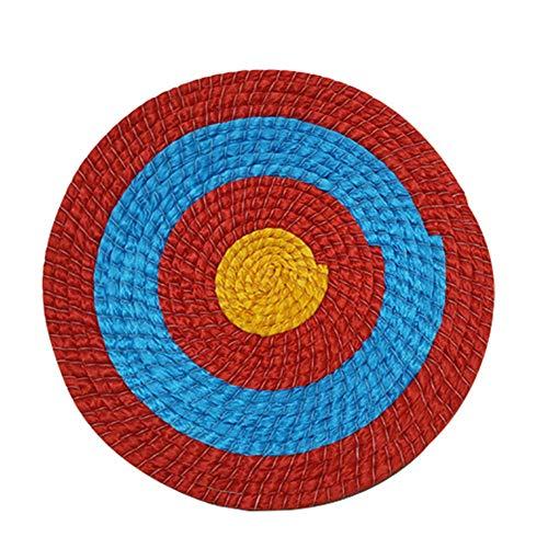 Runde Strohscheibe Coiled Archery Straw Target Zielscheibe Bogenschießen Stroh Bogen Ziel Outdoor Sports Traditioneller Bogenschießen Zubehör,Rot