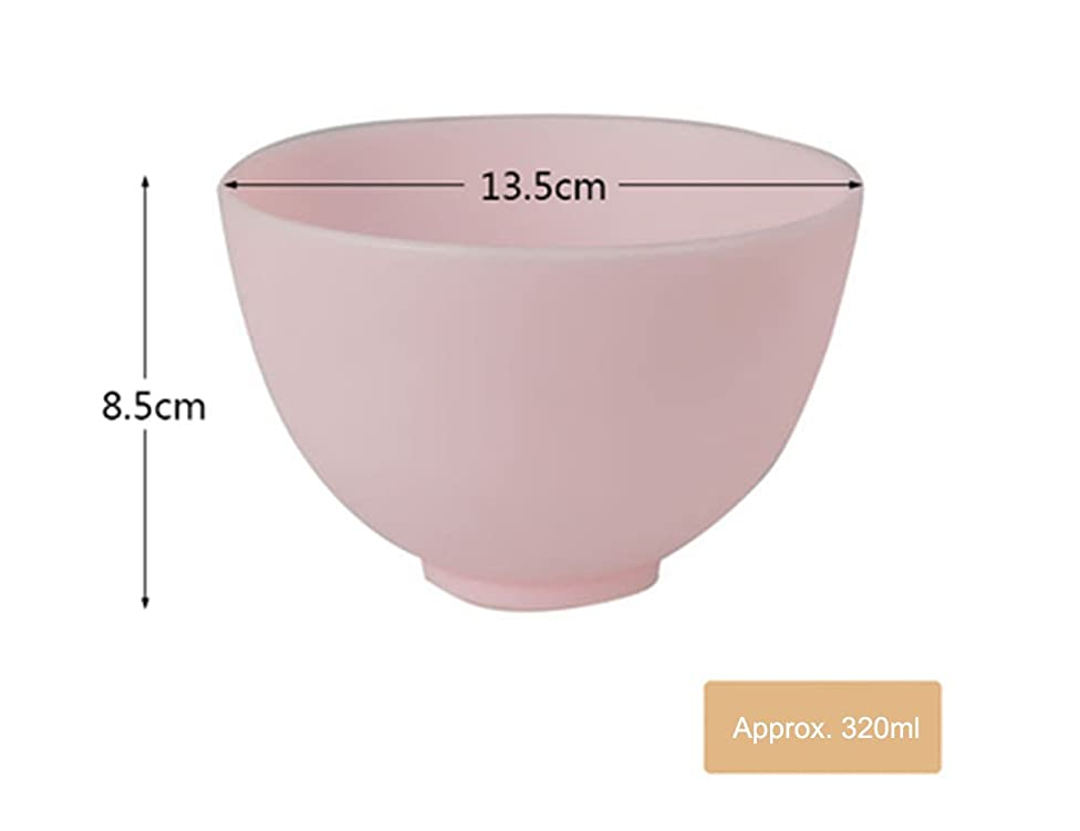 Elitzia ETBWP001 Silicone Mask Bowl Beauty Salon Necessary Supplies Pink Color 4 Size Options(13.5×8.5)