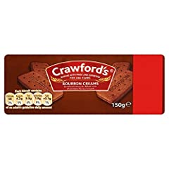 Crawfords Sandwich biscuits filled with chocolate flavour cream - 150g - Pack of 4 11 Servings Per Pack Delivery from the UK in 7-10 Days Allegern Information Contains Gluten