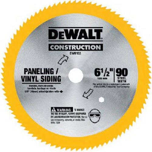 DEWALT 6-1/2-Inch Circular Saw Blade for Paneling/Vinyl, 90-Tooth (DW9153),Yellow