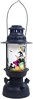 Juner Halloween Vintage Lantern Decorative Oil Lamp, Glowing Night Lighthouses with Portable Hanging Handle, Creative LED Atmosphere Lights Night Light for Home Bar Party Props Decorations