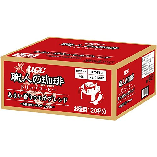 【Amazon.co.jp限定】UCC 職人の珈琲 ドリップコーヒー あまい香りのモカブレンド 120杯