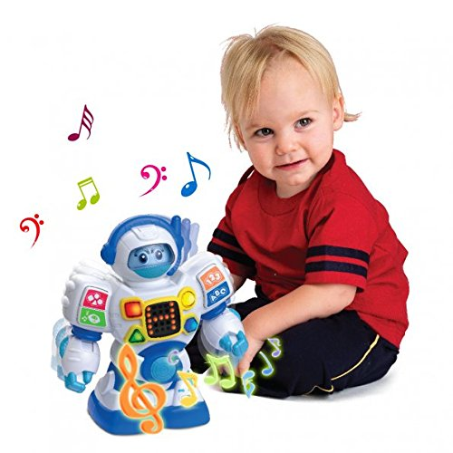 SainSmart Jr. HAP-P-Kid Preschool Learning Robot Toys, Dancing Robotic Teacher for Kids, Teach...