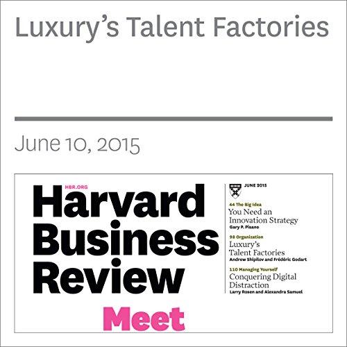 Luxury's Talent Factories copertina