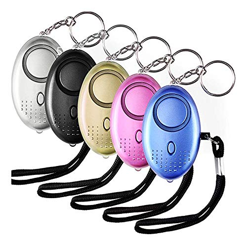 Pocket Alarm persönliche Verteidigung Alarm LED-Leuchten Notfall-Sicherheitswarnung Keychain 5 140dB bietet hohe Sicherheit und Sachversicherungen für Frauen