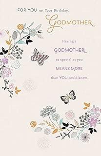 Godmother Happy Matt Foil Birthday Greeting Card