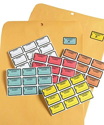 Tabbies Legal Exhibit Labels, Label: 1-5/8